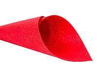 Фетр  жорст. 20*25 см    червоний  ( 10 шт  )  Китай