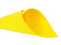 Фетр  жорст. 20*25 см  жовтий   ( 10 шт  )  Китай