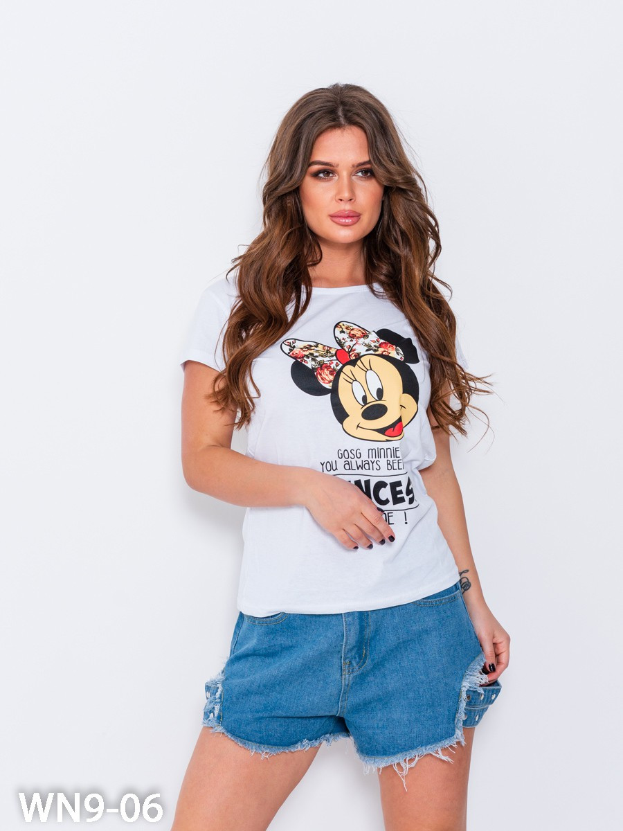 Женская футболка с Микки Маусом 46