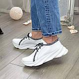 Кроссовки кожаные женские из натуральной белой кожи, фото 2