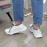 Кроссовки кожаные женские из натуральной белой кожи, фото 3