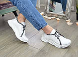 Кроссовки кожаные женские из натуральной белой кожи, фото 5