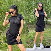 Платье худи женское стильное с капюшоном и карманами Smv4251