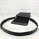 Сумка sv 1350 чёрная из натуральной кожи crazy horse, фото 6