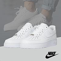 Кроссовки кожаные в стиле Nike Air Force 1 Low (Найк Аир Форс) белые 36-45 45, Весна/осень