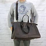 Дорожная сумка tree коричневая из натуральной кожи crazy horse, фото 2