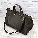 Дорожная сумка tree коричневая из натуральной кожи crazy horse, фото 3