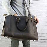 Дорожная сумка tree коричневая из натуральной кожи crazy horse, фото 6