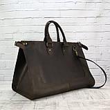 Дорожная сумка tree коричневая из натуральной кожи crazy horse, фото 7