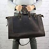 Дорожная сумка tree коричневая из натуральной кожи crazy horse, фото 8