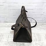 Дорожная сумка tree коричневая из натуральной кожи crazy horse, фото 9