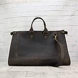 Дорожная сумка tree коричневая из натуральной кожи crazy horse, фото 10