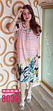 Штапельное платье,8038, фото 3