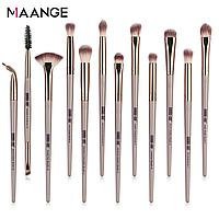 Набор кистей для макияжа MAANGE Pro бежевый 12 шт