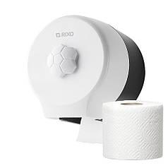 Диспенсер для туалетного паперу в стандартних рулонах Rixo Bello P127W білий пластиковий навісний