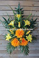 Искусственные цветы - Хризантема с лилией композиция, 70 см