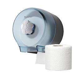 Диспенсер для туалетного паперу в стандартних рулонах Rixo Bello P127TC синій пластиковий настінний