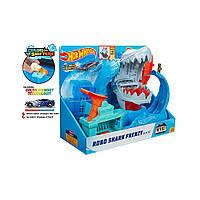Трек Hot Wheels Хот Вилс Голодная Акула-робот Robo Shark Frenzy  Color Changing  Измени цвет