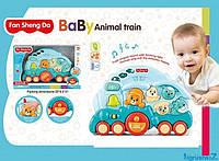 Пианино Поезд, музыкальная развивающая игрушка для малышей