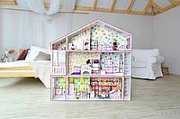 Супер дом для Барби с секретом + мебель + обои + текстиль