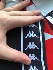 Штаны Kappa черные с белым лампасом, фото 2