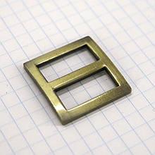 Регулятор пряжка перетяжка 20 мм антик для сумок a3515 (10 шт.)