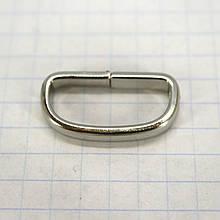 Шлевка металлическая 20 мм никель для ремней t4355 (40 шт.)