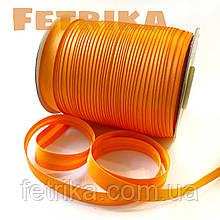 Косая-бейка атласная оранжевая, 15 мм