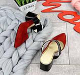 Яркие натуральные летние мюли на устойчивом каблучке (разные цвета), фото 5