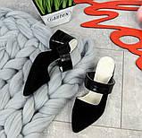 Яркие натуральные летние мюли на устойчивом каблучке (разные цвета), фото 6