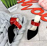 Яркие натуральные летние мюли на устойчивом каблучке (разные цвета), фото 8