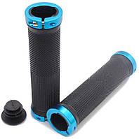 Велосипедные грипсы ROCKBROS с замками ручки вело Black-Blue
