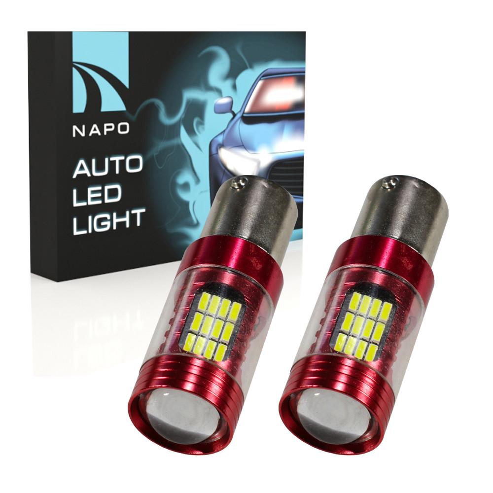 Лампа светодиодная NAPO LED S25-1156-4014-48SMD+5WCree.S25-028 P21W BA15S цвет свечения белый 2 шт