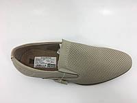 Полностью кожаные летние туфли мужские