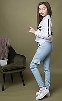 Стильные детские брюки-джоггеры Off-White для девочки.