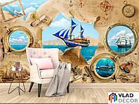 Фотообои Пиратская карта по Вашим размерам