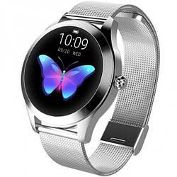 Умные Смарт часы, годинник жіночий Smart Watch Lady Silver