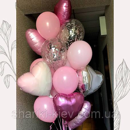 Набор шаров Фонтан из 18-ти шаров  для девушки, фото 2