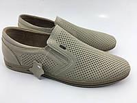 Полностью кожаные мужские туфли летние