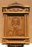 Храмовая резная икона Спаситель 140*90*14 см, фото 2