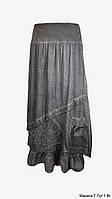 Юбка женская. Удлиненная. Цвета: коричневый, серый, красный. Молодежная юбка из хлопка.