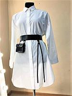 """Женский широкий пояс """"Lacrima"""" с навесным карманом черный, фото 1"""