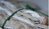Комплект льняного белья бело-серый Devohome (двуспальный Евро), фото 2