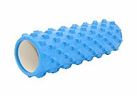 Массажный ролик (валик, роллер) для йоги CF88 Spiked Roller 45х15 см Синий
