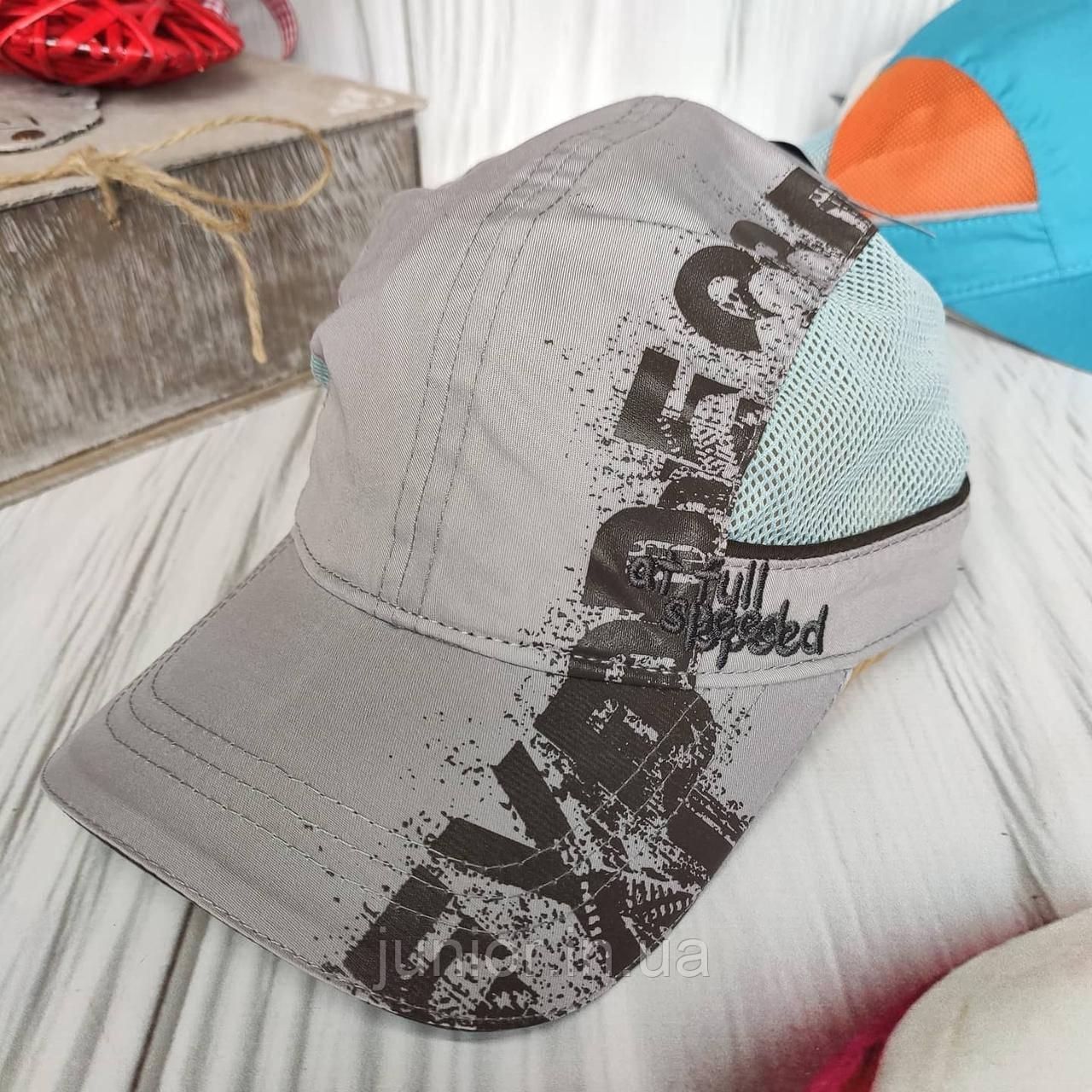 Стильная детская кепка бейсболка для мальчика (50-52р)