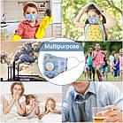 Защитная маска Детская для лица многоразовая с клапаном и фильтром+4 фильтра в подарок, фото 2