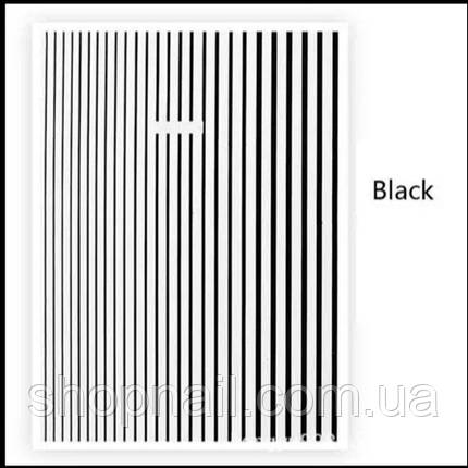 Наклейки полоски, Black, фото 2