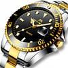 Часы Megalith 0037M Silver-Gold-Black