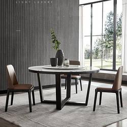 Мраморный стол круглый с поворотной платформой. Модель 2-420