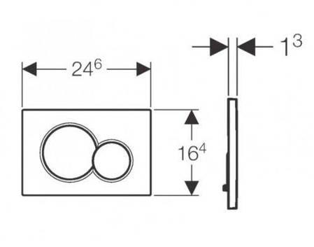115.770.DW.5 Sigma01 Клавіша змиву, колір чорниц RAL9005, фото 2